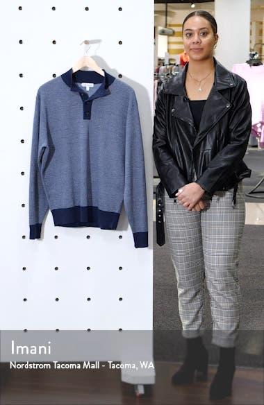 Henley Mock Neck Wool & Linen Sweater, sales video thumbnail