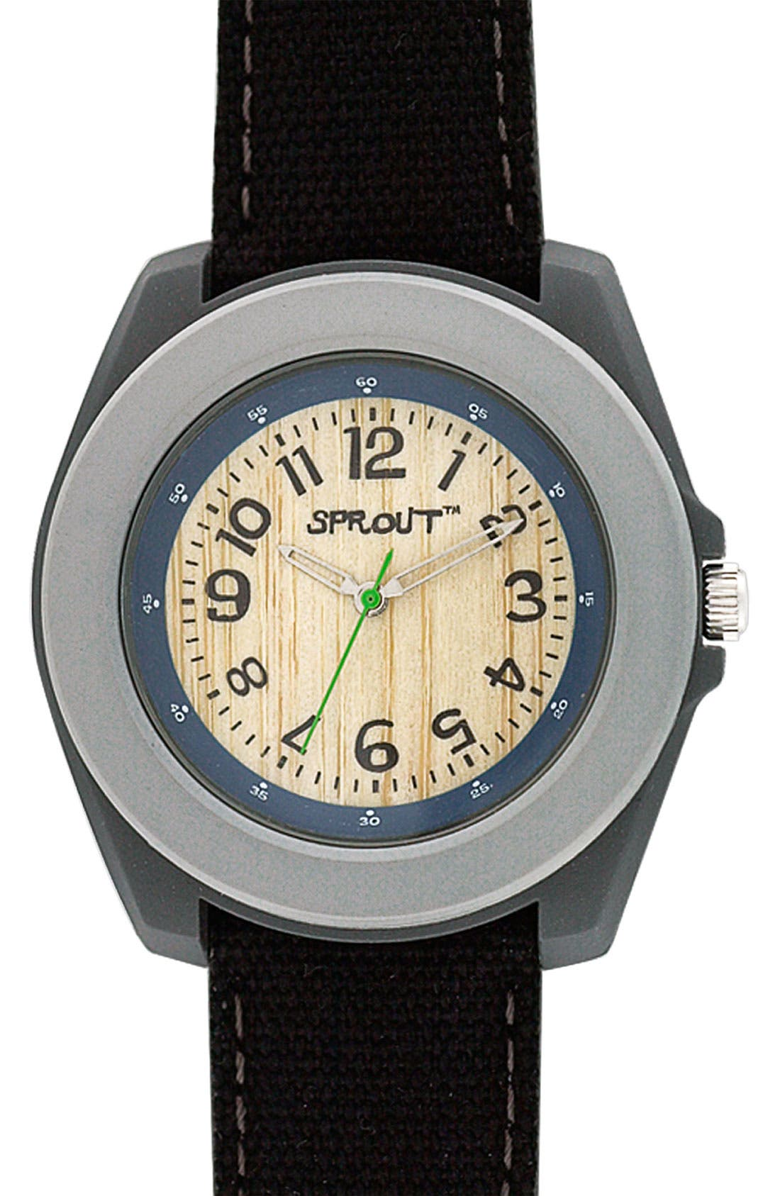 ,                             Organic Round Case Watch,                             Main thumbnail 1, color,                             020