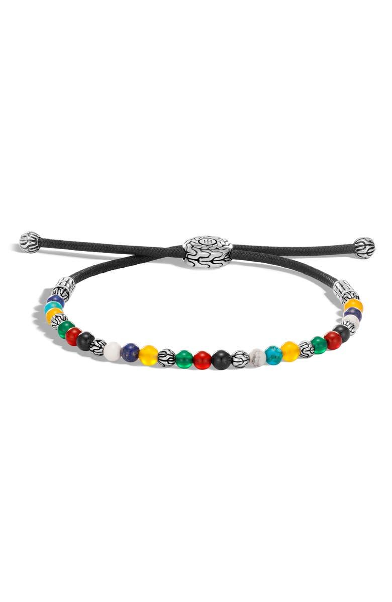 JOHN HARDY Men's Classic Chain Beaded Friendship Bracelet, Main, color, SILVER