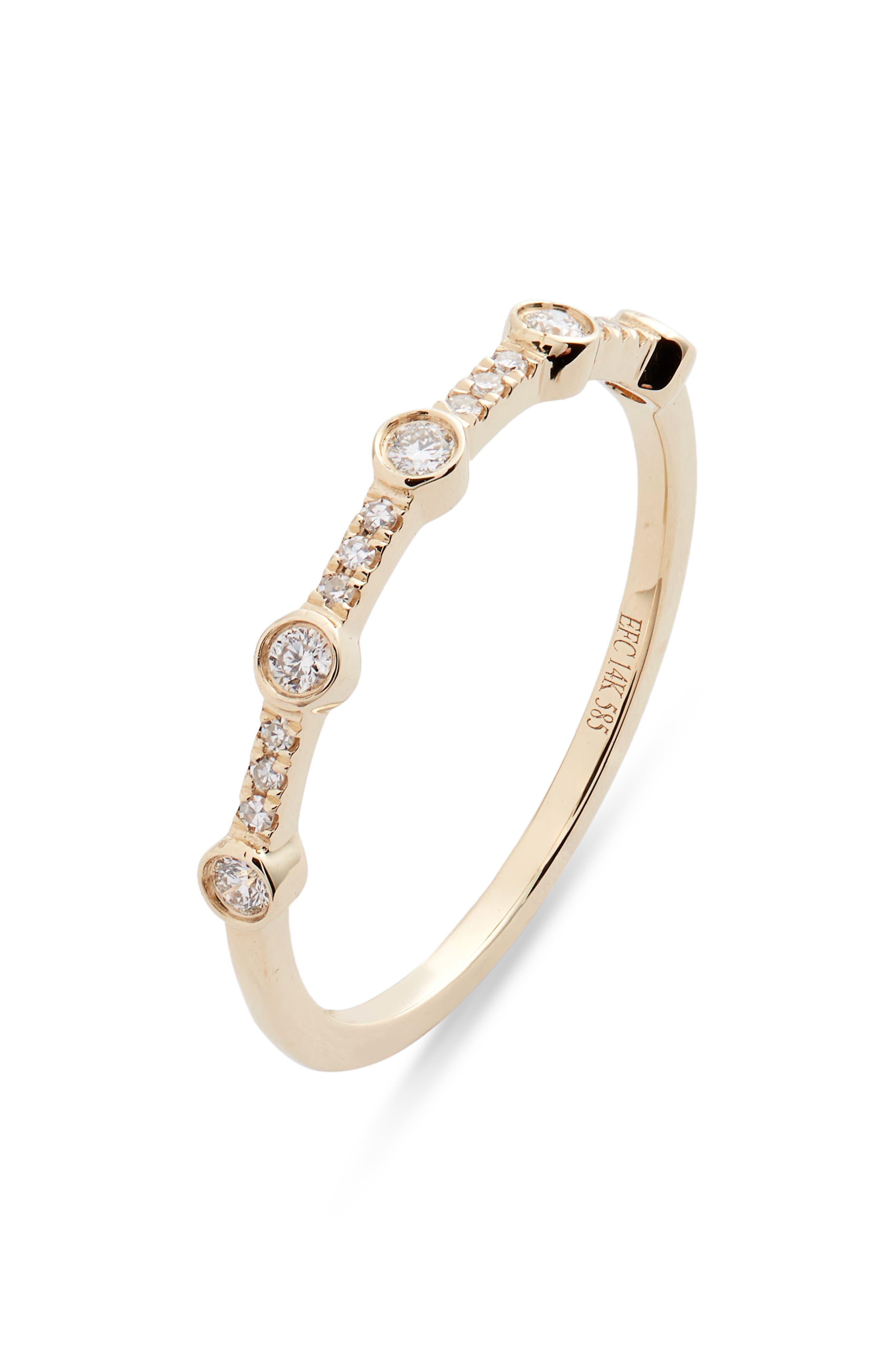 5-Bezel Diamond Stack Ring