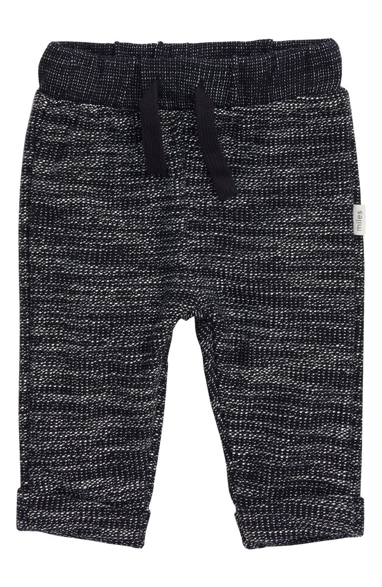MILES BABY Knit Jogger Pants, Main, color, NAVY