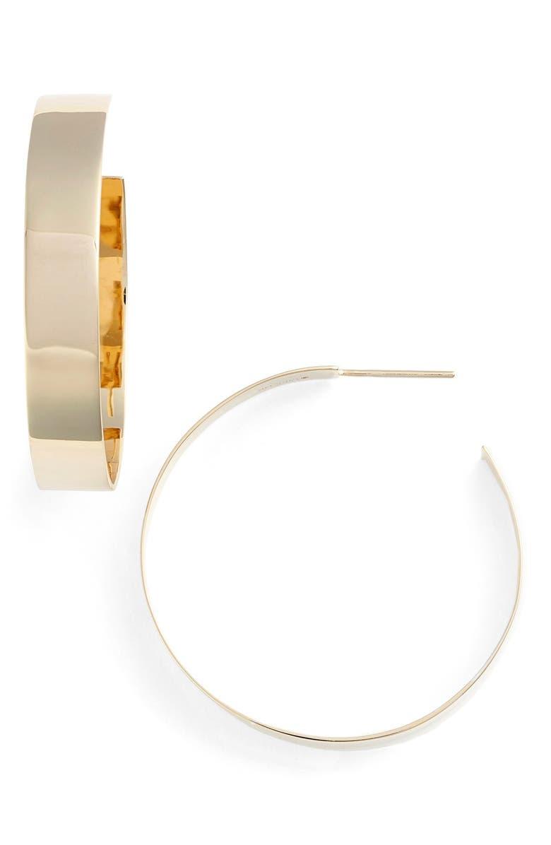 LANA JEWELRY 'Vanity' Small Hoop Earrings, Main, color, YELLOW GOLD