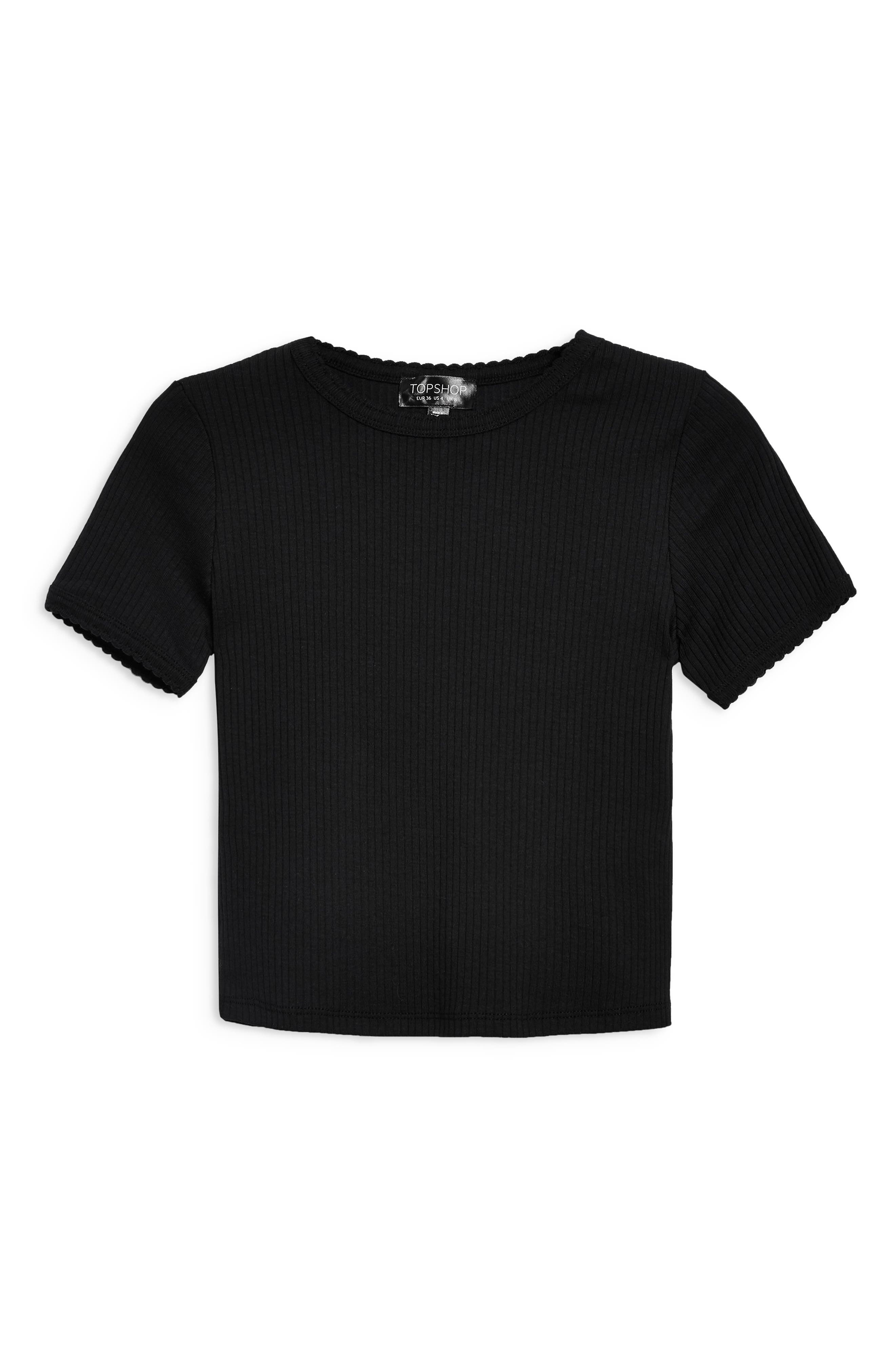 ,                             Scallop Edge Tee,                             Alternate thumbnail 9, color,                             001