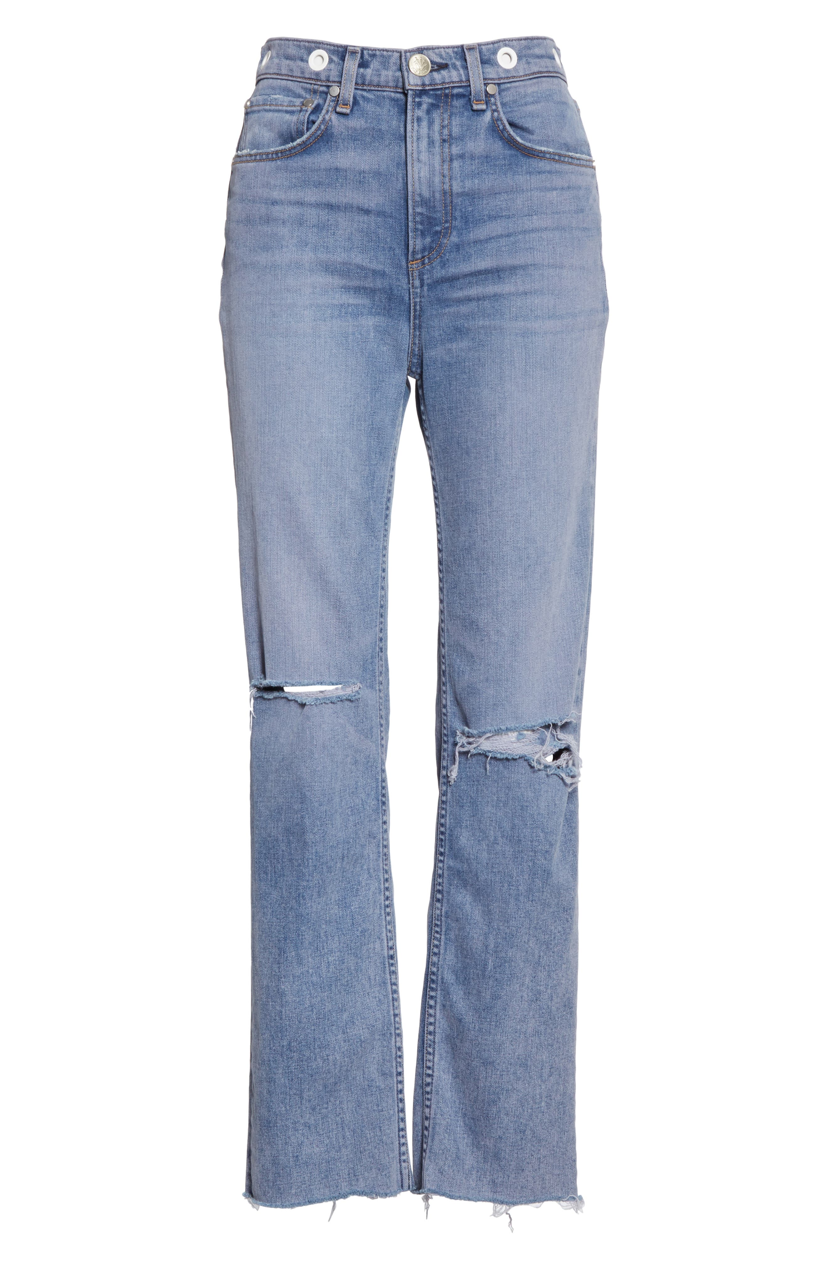 ,                             Maya High Waist Ankle Straight Leg Jeans,                             Alternate thumbnail 7, color,                             TINTED HYDRANGEA