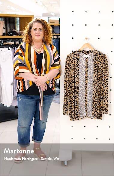 Leopard Print Open Jacket, sales video thumbnail