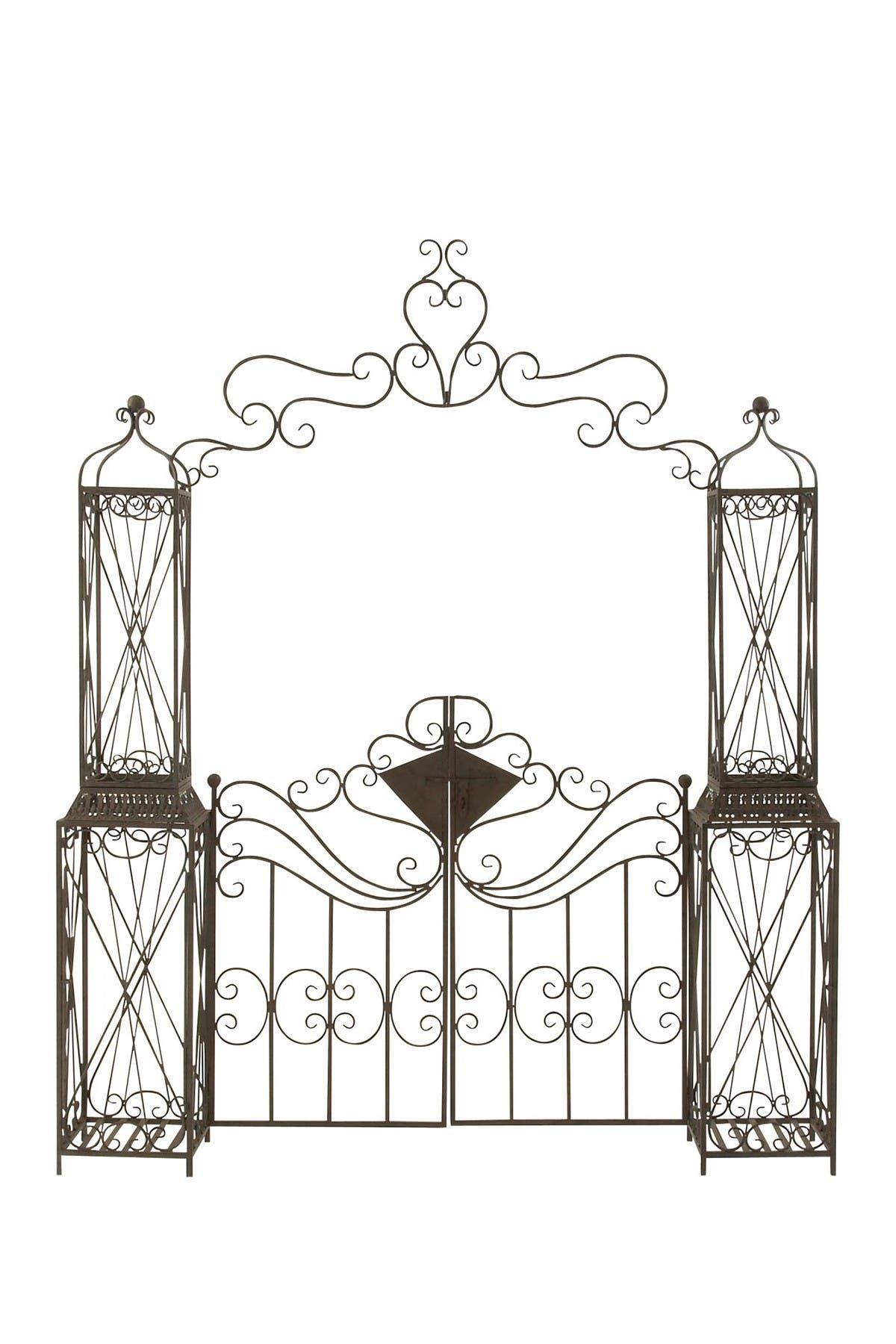 Image of Willow Row Metal Garden Gate