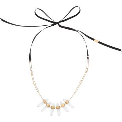 Allsaints Large Stone Collar Necklace