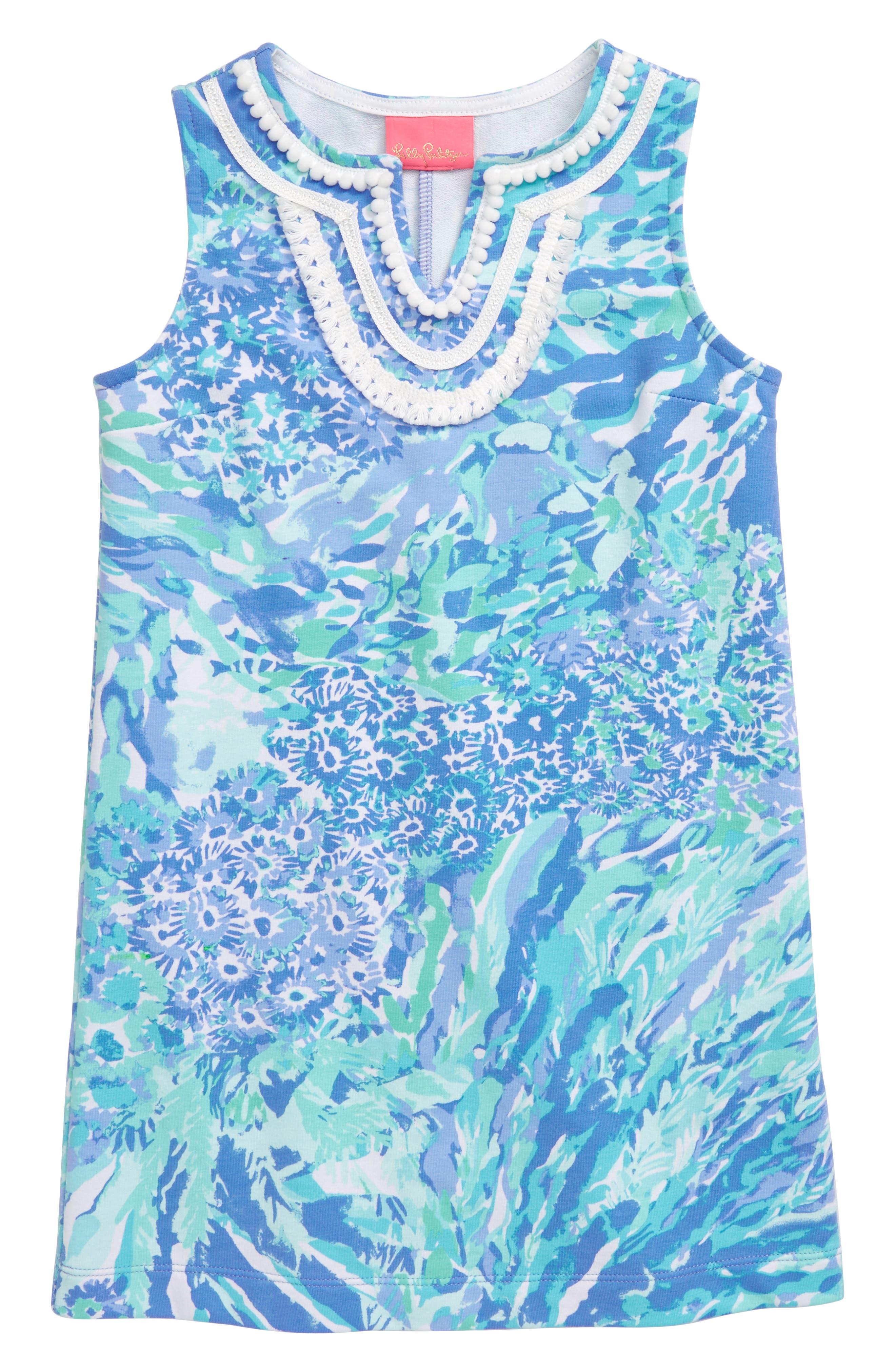 Girls Lilly Pulitzer Mini Harper Shift Dress Size S (45)  Blue