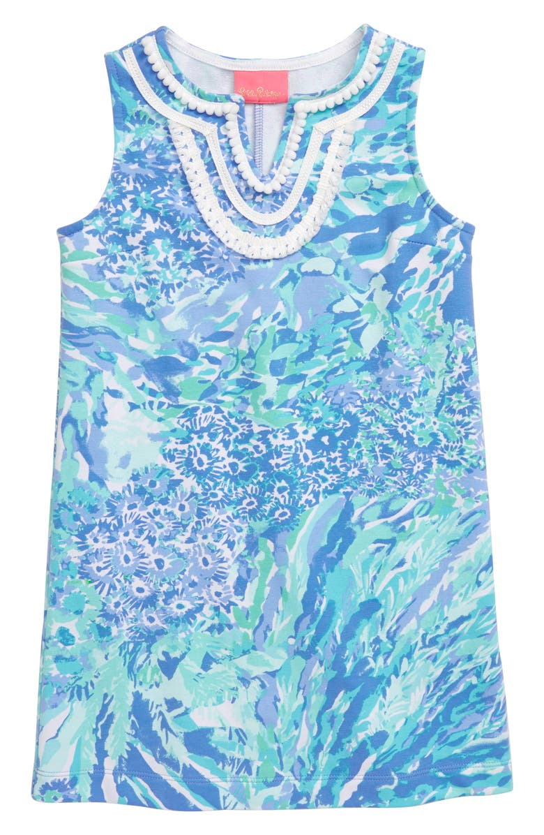 LILLY PULITZER<SUP>®</SUP> Mini Harper Shift Dress, Main, color, BLUE HAVEN HEY HEY SOLEIL