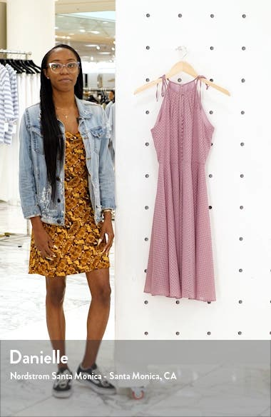 Lenore Embroidered Chiffon Dress, sales video thumbnail