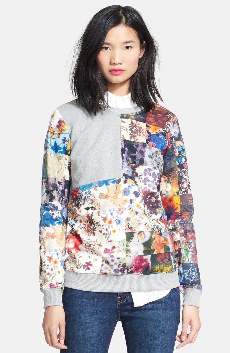 MARKUS LUPFER Floral Sweatshirt, Main, color, 020