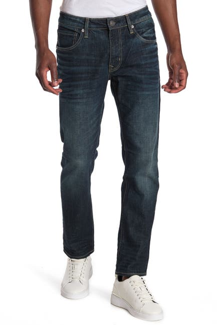 Image of Vigoss Dark Wash Slim Straight Jeans