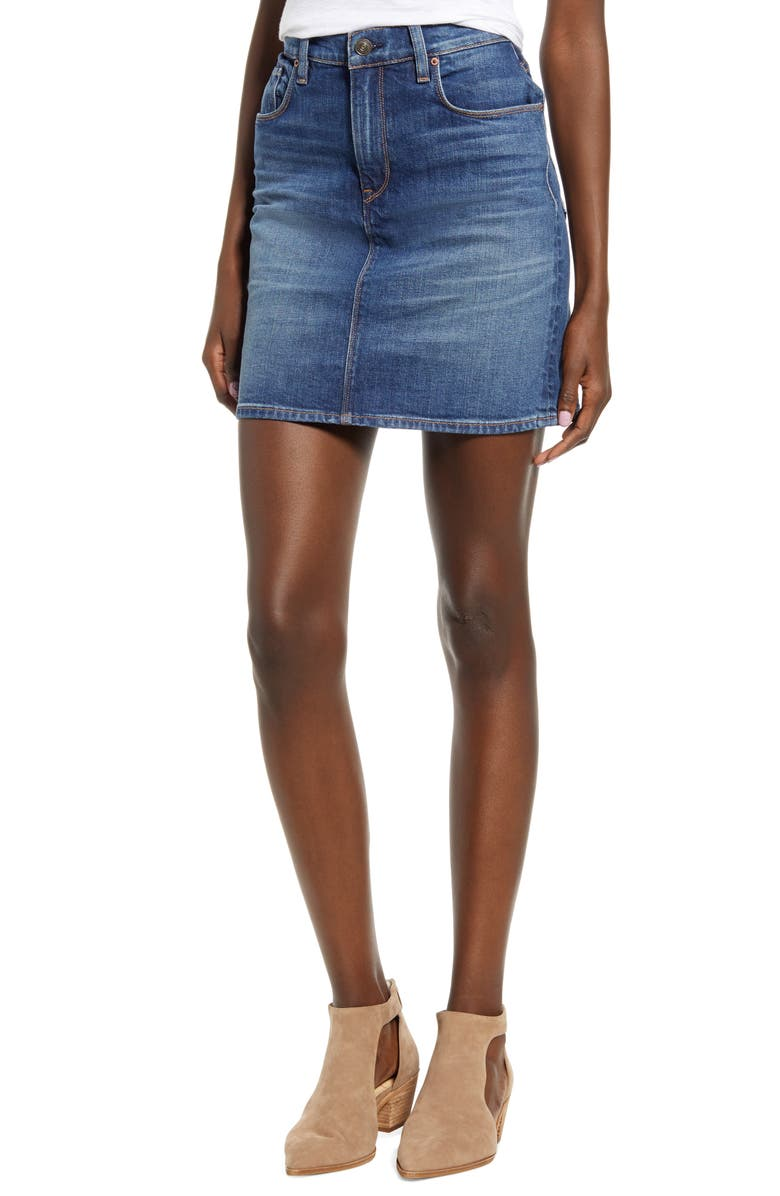 HUDSON JEANS Lulu Denim Miniskirt, Main, color, INFATUATED