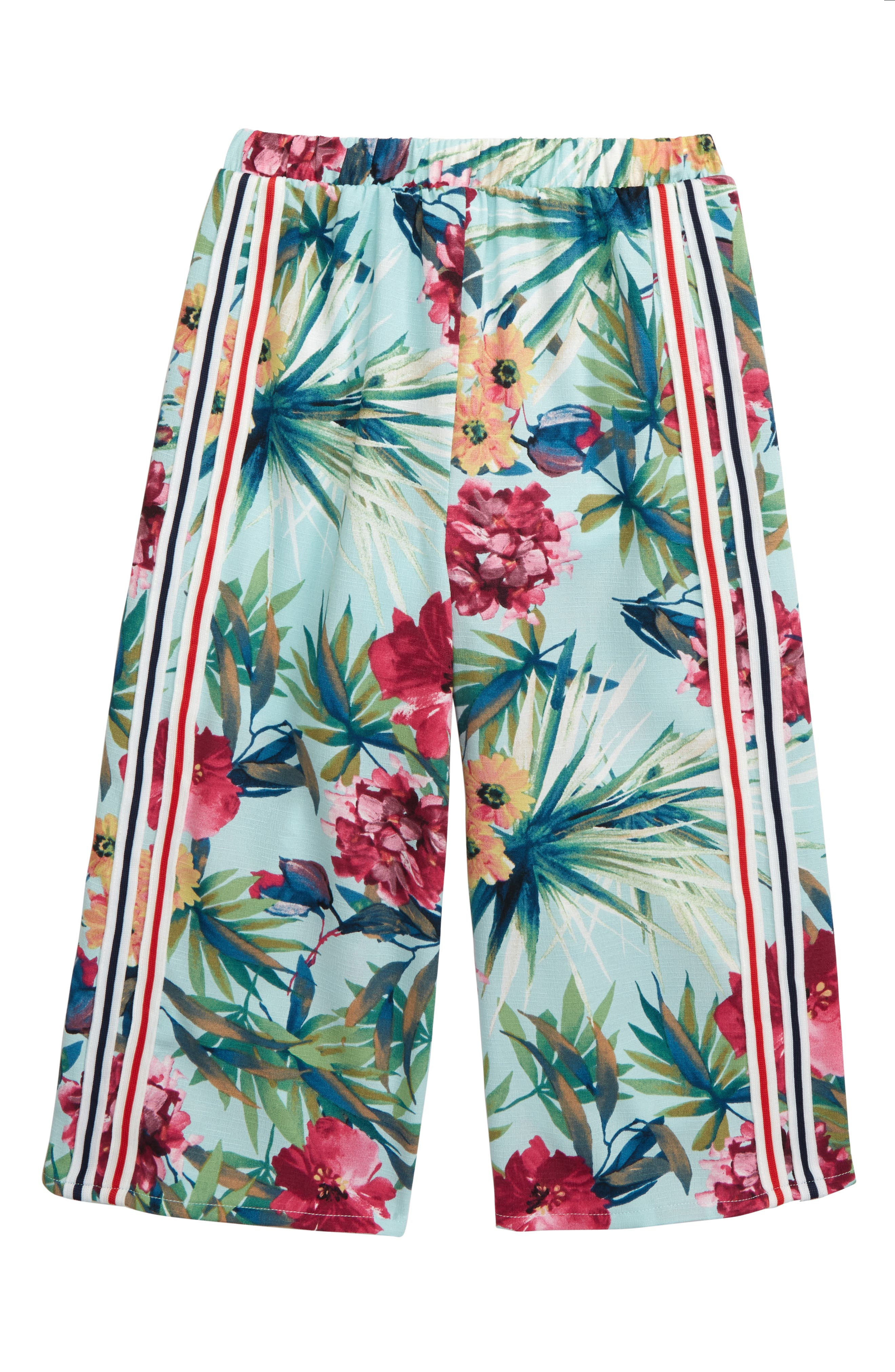 Toddler Girls Truly Me Floral Print Culottes Size 2T  Green