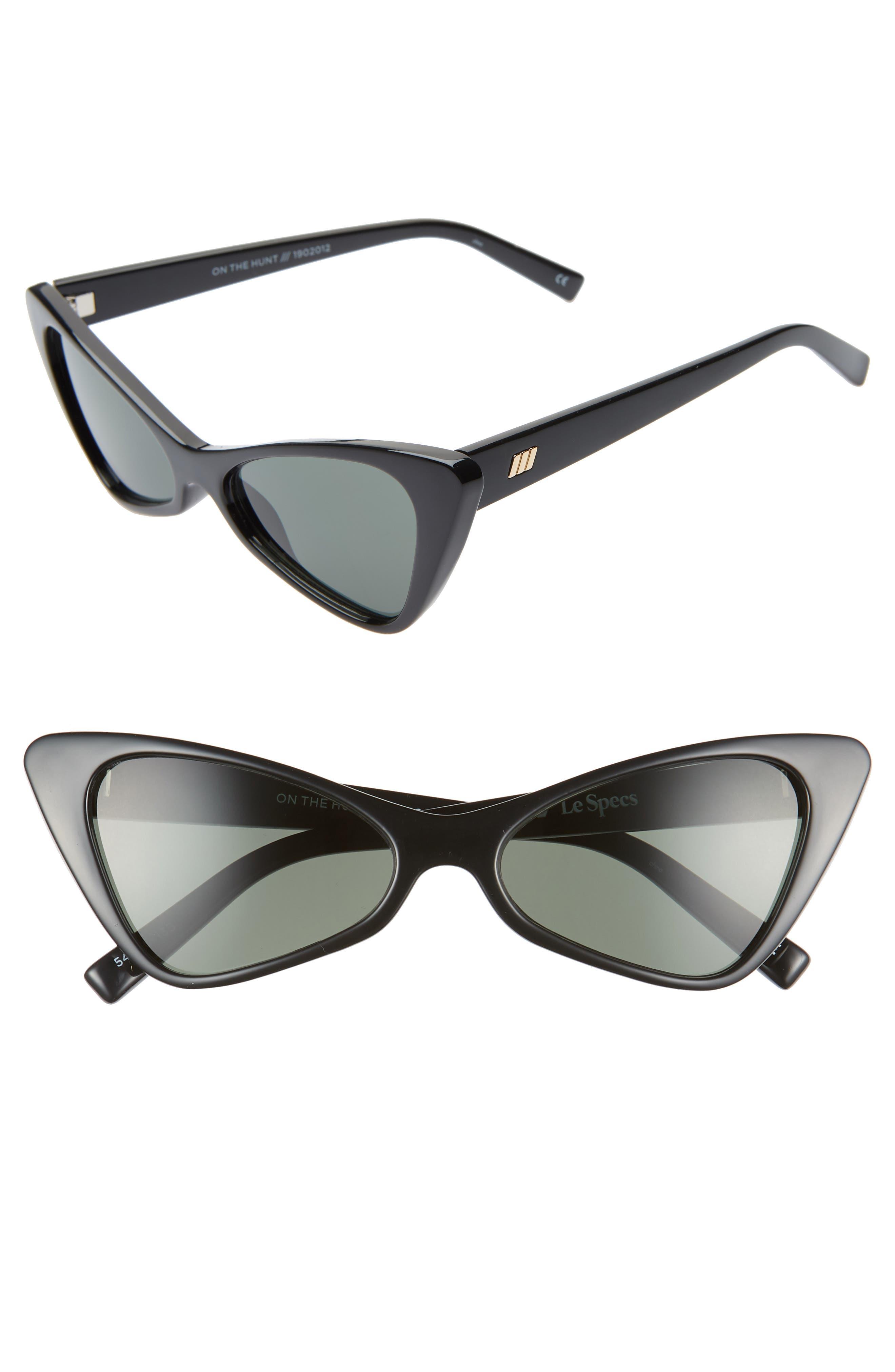 Le Specs On The Hunt 5m Cat Eye Sunglasses - Black/ Khaki Mono