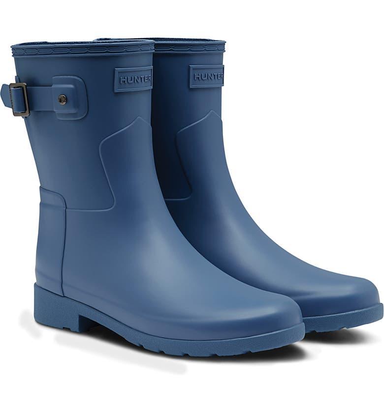 HUNTER Original Refined Short Waterproof Rain Boot, Main, color, OCTAVE