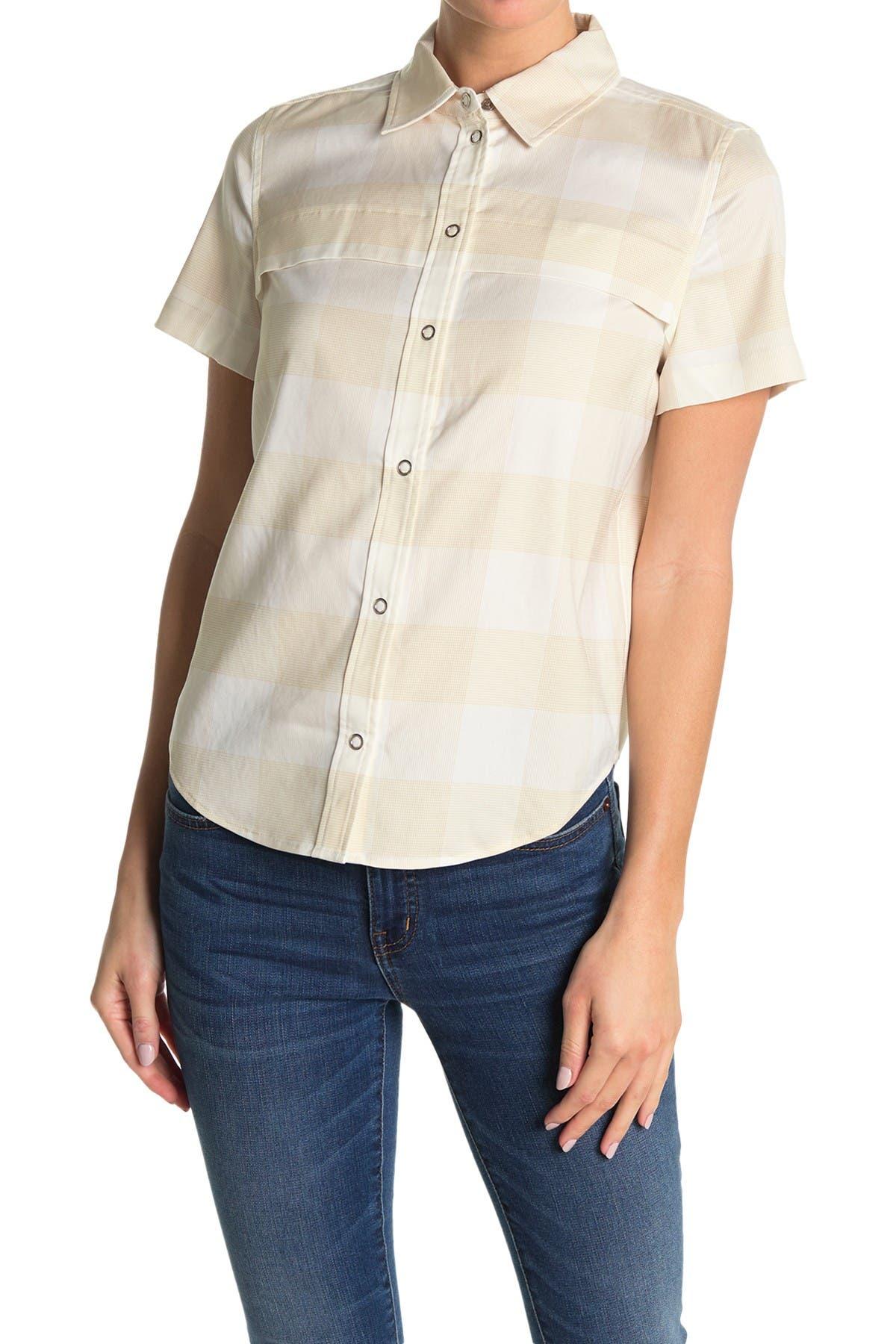 Image of BALDWIN Lexie Plaid Button-Down Shirt