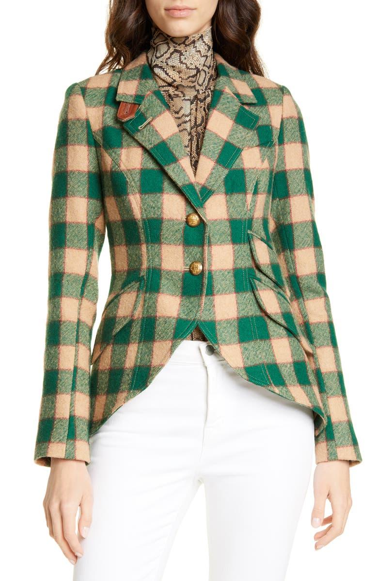 SMYTHE Plaid Wool Hunting Jacket, Main, color, 300