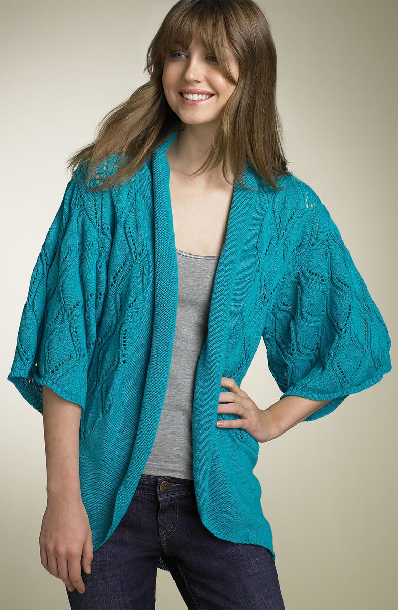 ABSOLUTELY COTTON Pointelle Cardigan, Main, color, 481