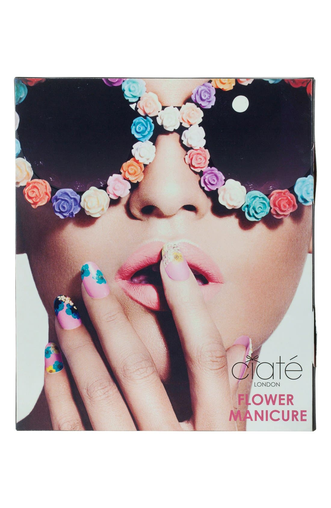 ,                             'Flower Manicure - Strike-a-Posy' Set,                             Alternate thumbnail 3, color,                             000