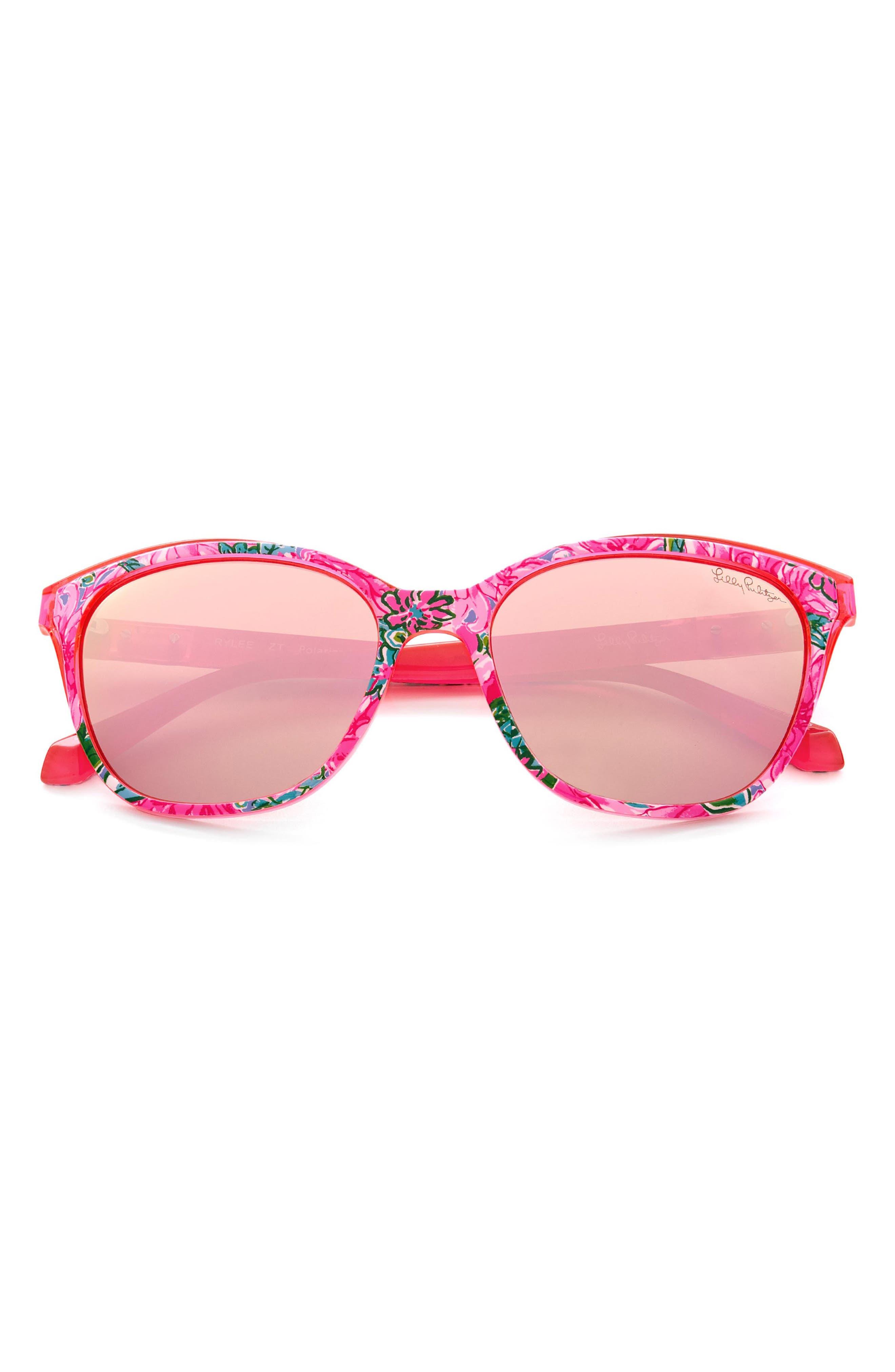 Women's Lilly Pulitzer 55mm Polarized Cat Eye Sunglasses