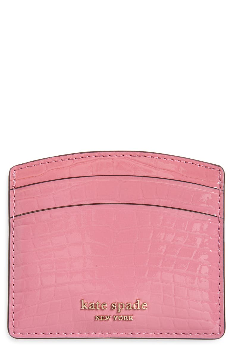 KATE SPADE NEW YORK sylvia croc embossed leather card case 原價港幣654.30 優惠價港幣438.38