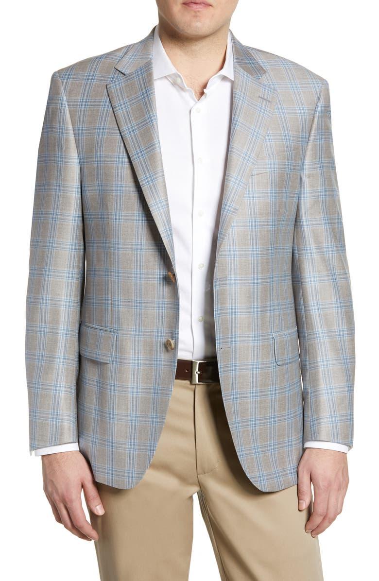 PETER MILLAR Flynn Classic Plaid Wool Sport Coat, Main, color, 021