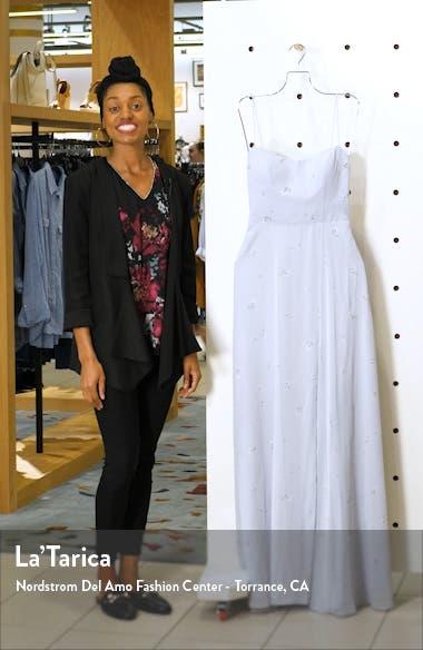 Kiara Floral Print Chiffon Evening Gown, sales video thumbnail