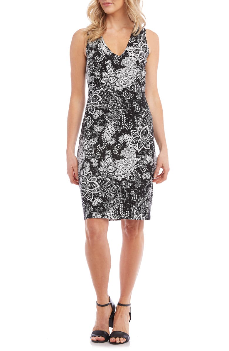 KAREN KANE Sleeveless Sheath Dress, Main, color, 001