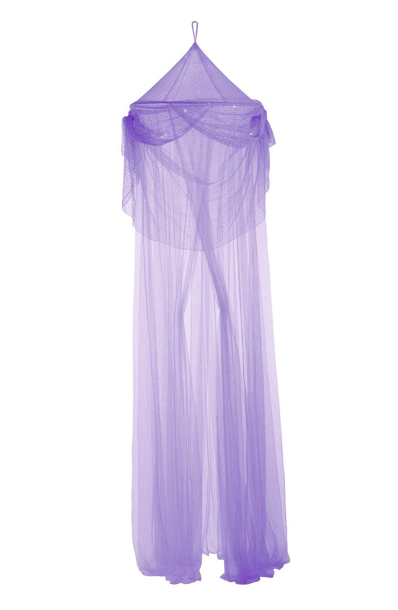 3C4G 'Purple SparkleTastic' Bed Canopy, Main, color, PURPLE