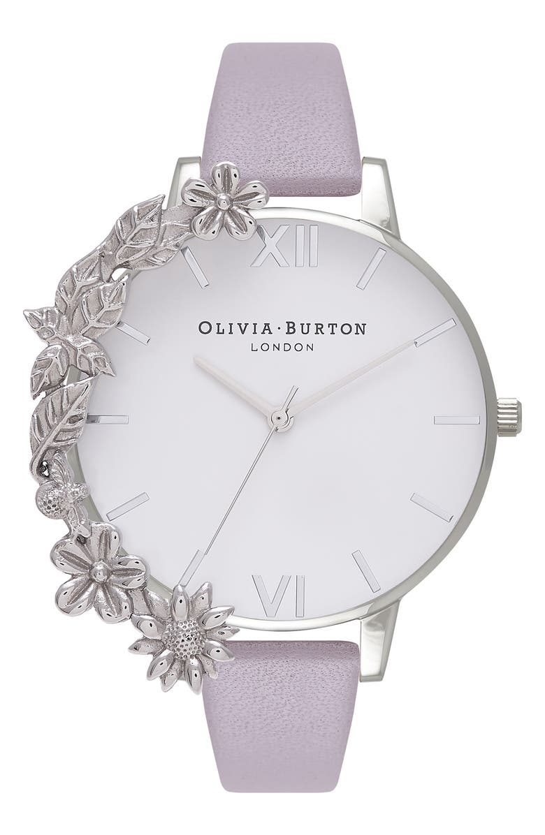 Olivia Burton Case Cuff Leather Strap Watch 38mm