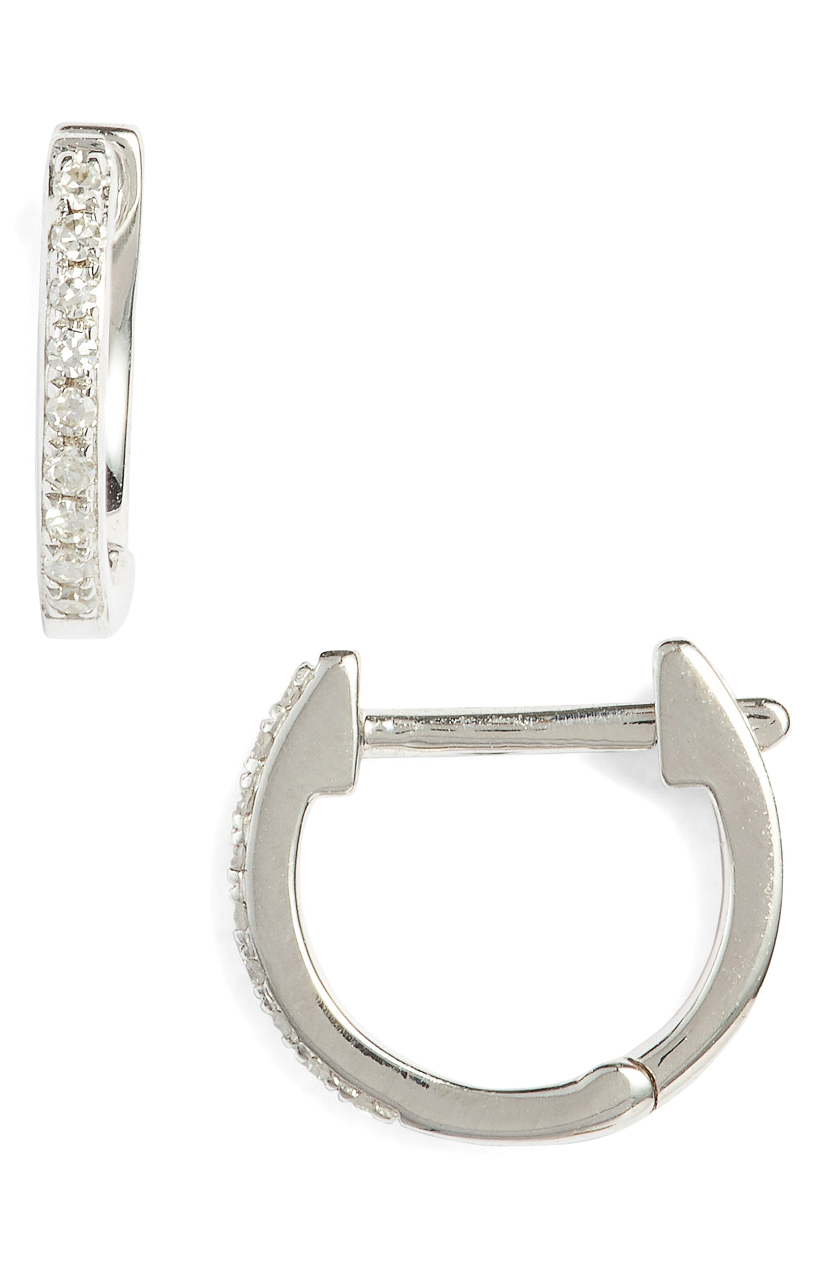 Mini Diamond Hoop Earrings
