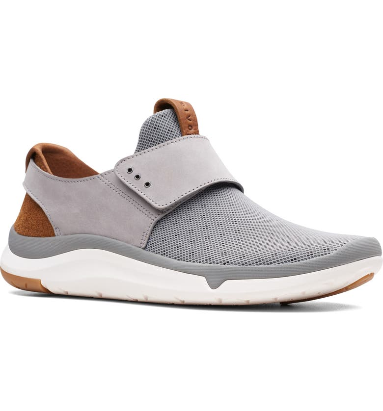 CLARKS<SUP>®</SUP> Privo Flux Slip-On Sneaker, Main, color, GREY NUBUCK