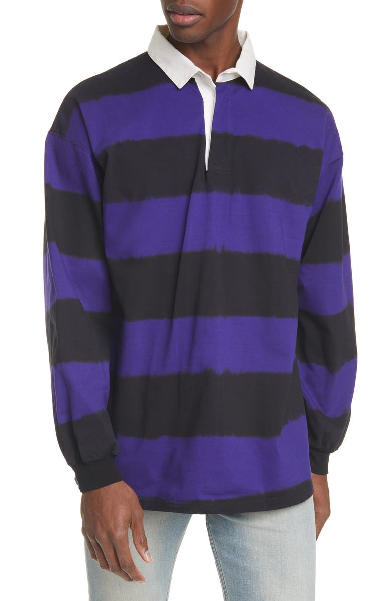 NEEDLES Stripe Rugby Polo Shirt, Main, color, 510