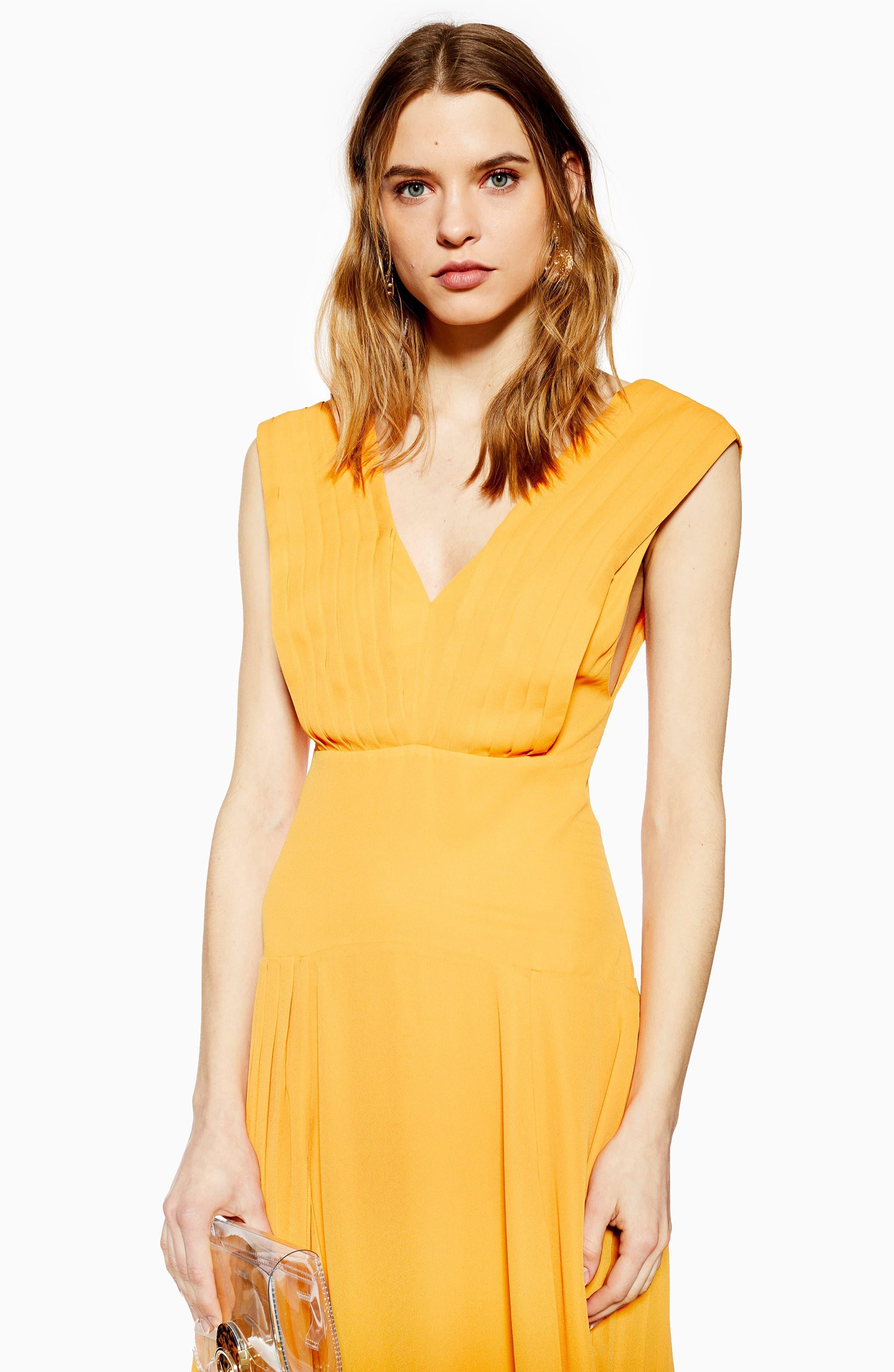,                             Pleated Pinafore Midi Dress,                             Alternate thumbnail 14, color,                             700