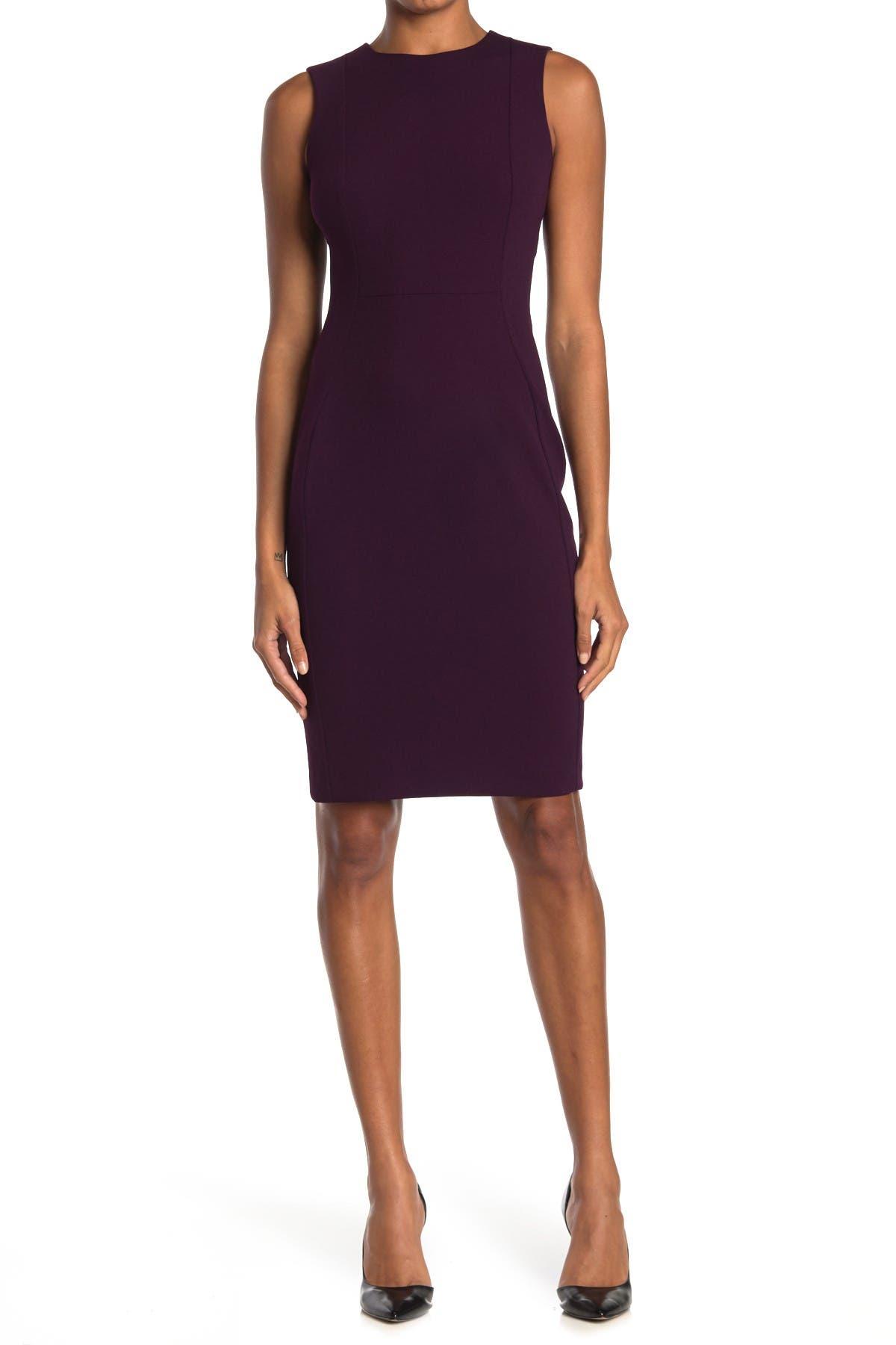 Image of Calvin Klein Sleeveless Sheath Dress