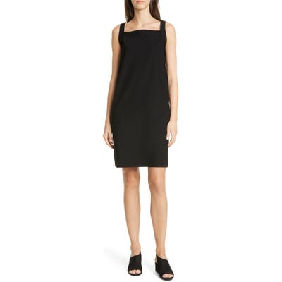 Eileen Fisher Square Neck Jersey Dress, Black