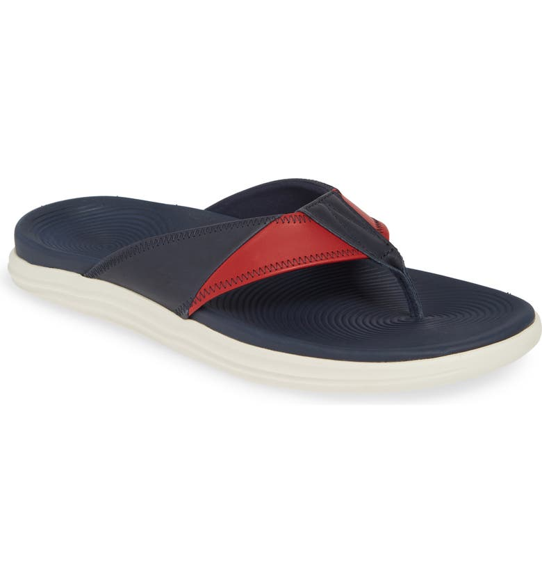 SPERRY Top-Sider<sup>®</sup> Regatta Flip Flop, Main, color, RED/ WHITE/ BLUE LEATHER