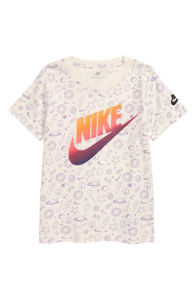 NIKE Futura Gradient Slanted Logo T-Shirt, Main, color, SAIL