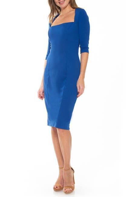 Image of Alexia Admor Marilyn Square Neck Sheath Dress