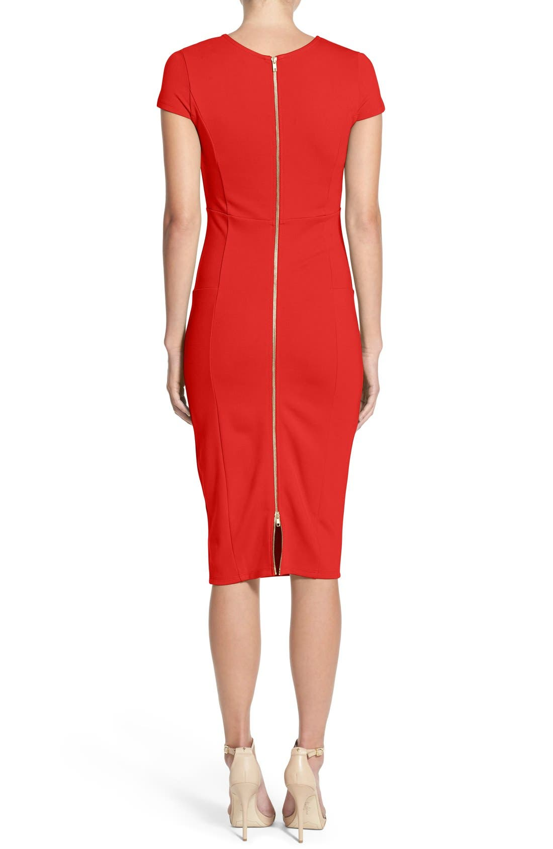 ,                             Ward Seamed Pencil Dress,                             Alternate thumbnail 28, color,                             606