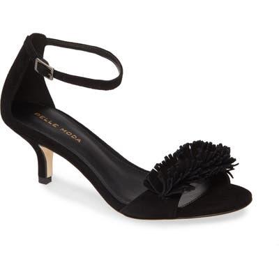 Pelle Moda Imee Ankle Strap Sandal- Black
