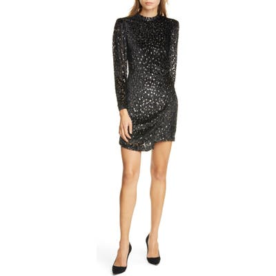 A.l.c. Jane Devore Long Sleeve Minidress, Black