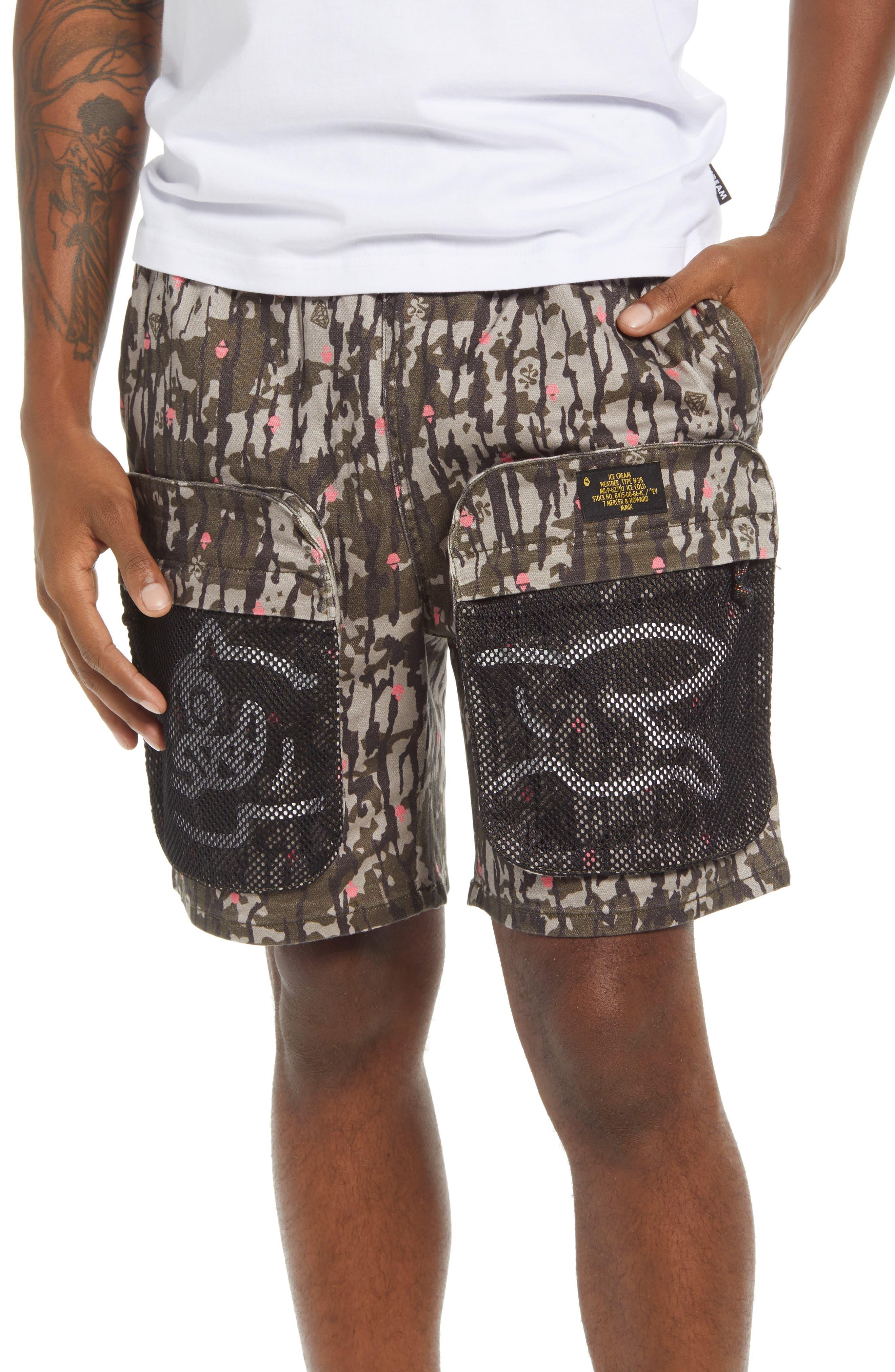 Strawberry Cargo Shorts