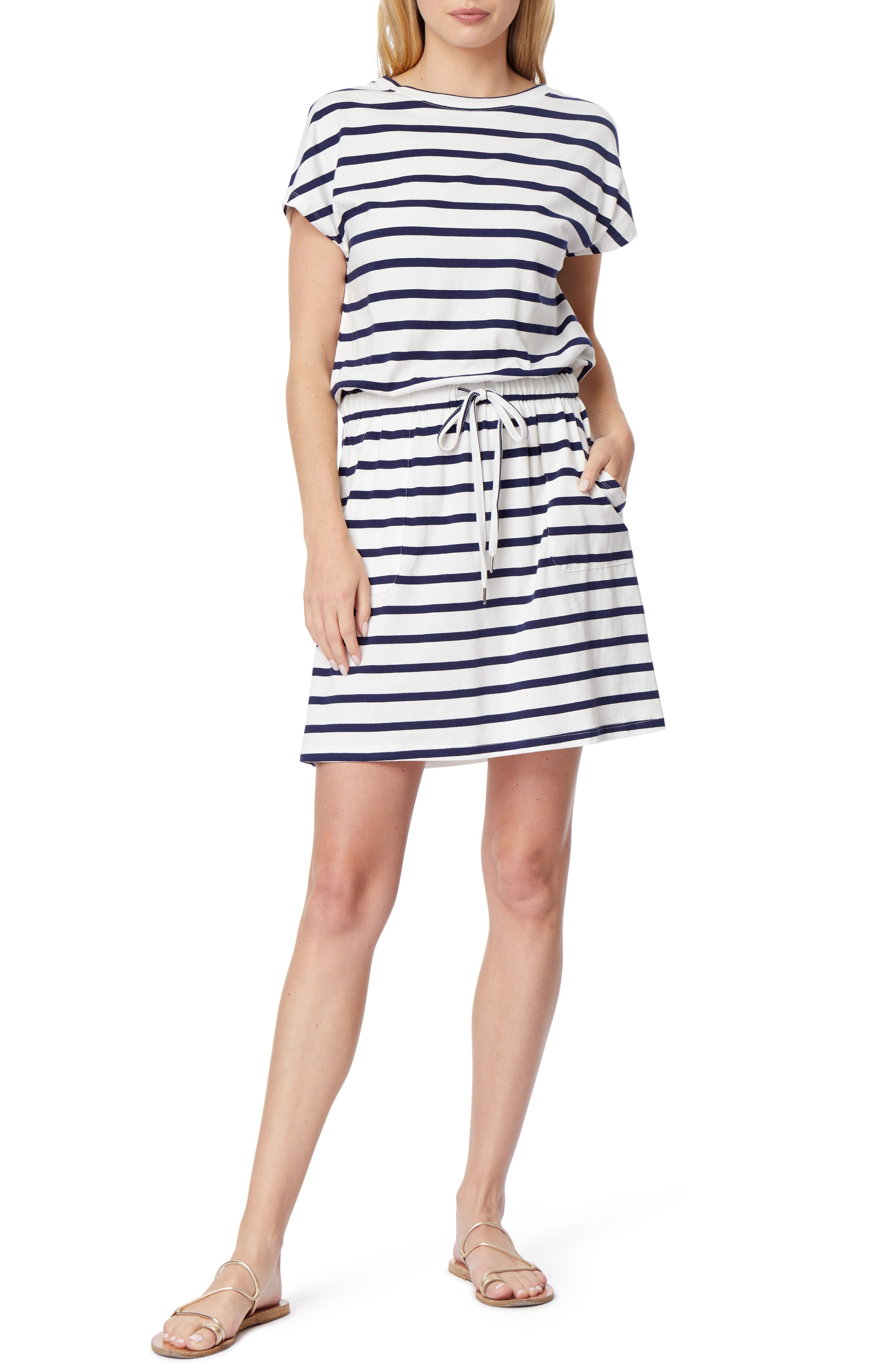 Barbara Dolman Sleeve Pocket Jersey Dress