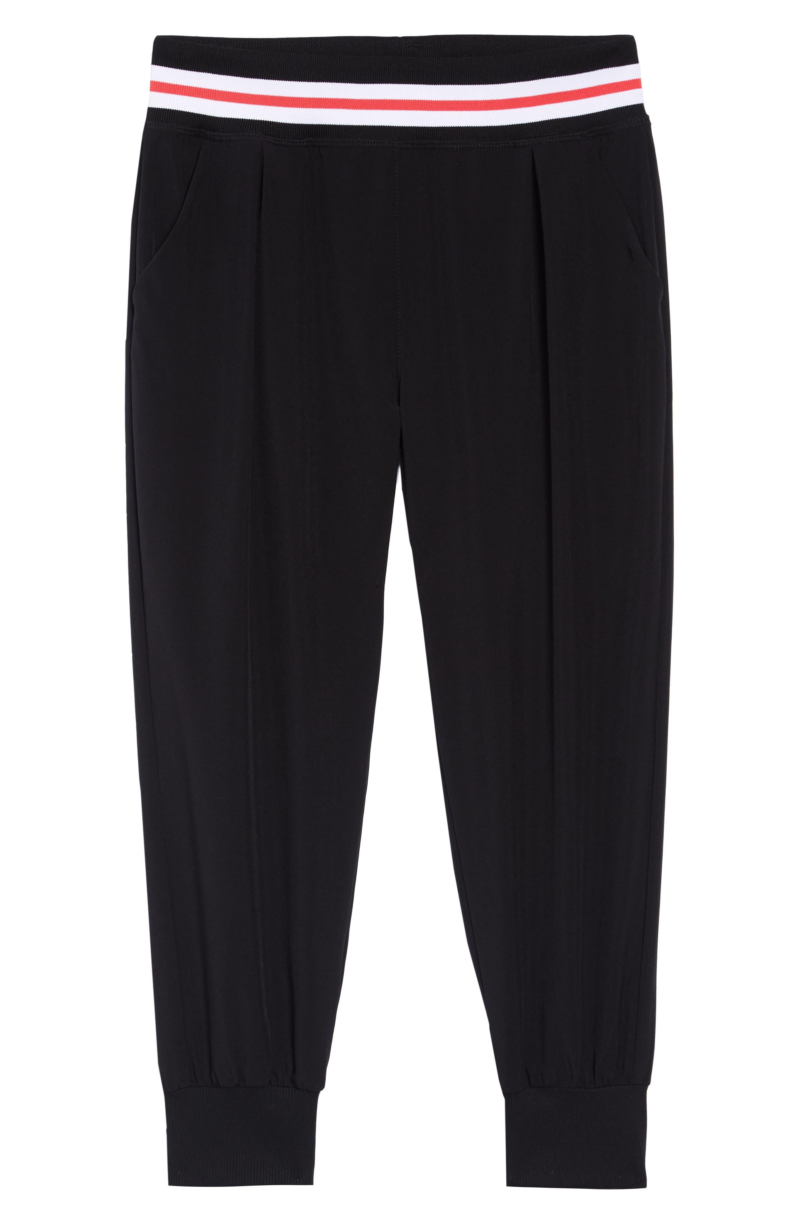 Crop Jogger Pants, Main, color, BLACK