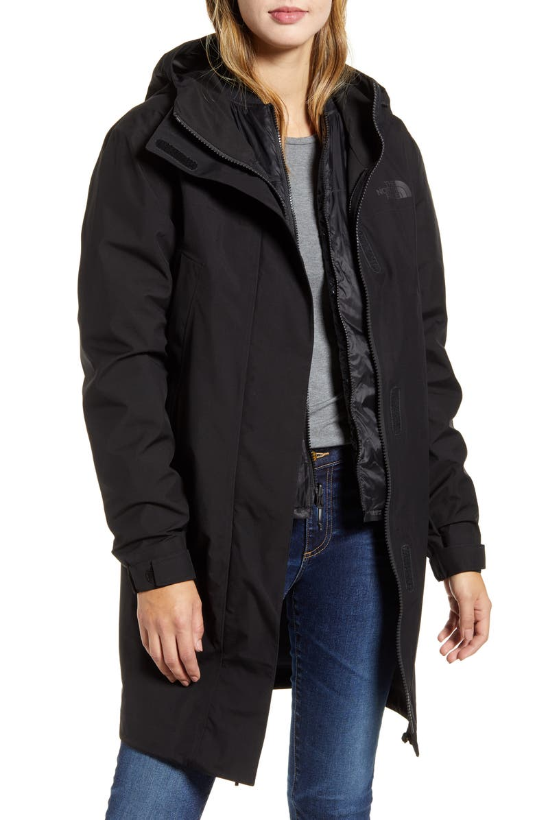 THE NORTH FACE Transverse TriClimate<sup>®</sup> 800 Fill Power Down 3-in-1 Coat, Main, color, 001
