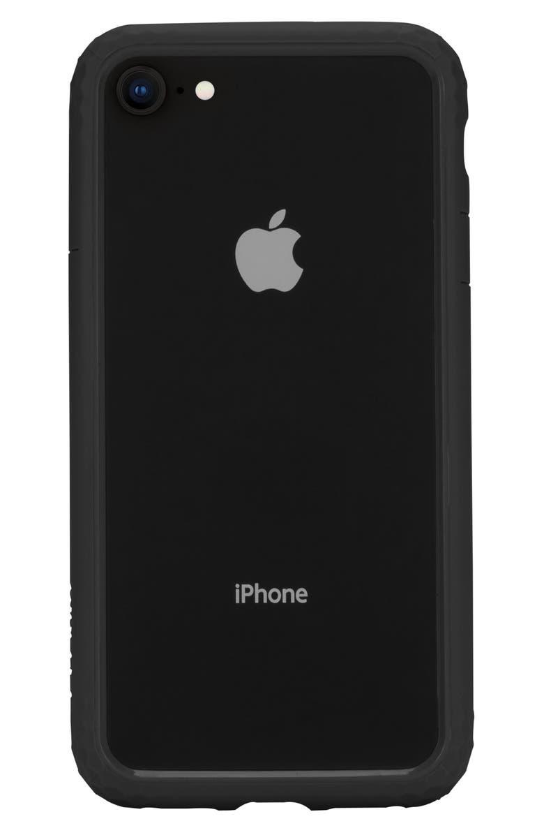 INCASE DESIGNS Frame iPhone 7/8 Case, Main, color, BLACK
