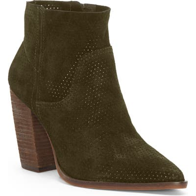 Vince Camuto Cava Perforated Pointy Toe Boot, Green