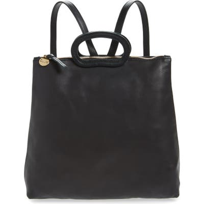 Clare V. Marcelle Leather Backpack - Black